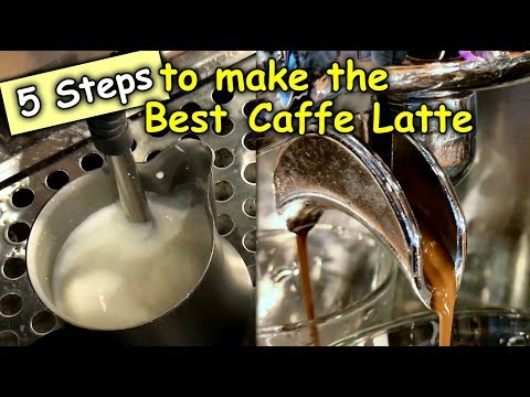 (156) 5 Steps To Make The Very Perfect Caffe Latte on your Espresso Machine or Coffee Machine