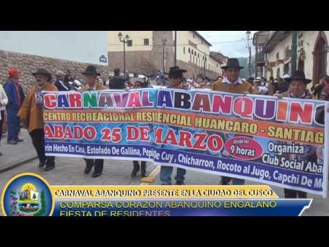PRESENTACION DEL CARNAVAL ABANQUINO EN LA CIUDAD DEL CUSCO 2017
