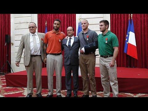 Γαλλία:Με το παράσημο της Λεγεώνας της Τιμής βραβεύτηκαν οι ηρωικοί επιβάτες της υπερταχείας Thalys