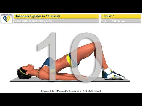 Rassodare glutei in 15 minuti (no music)