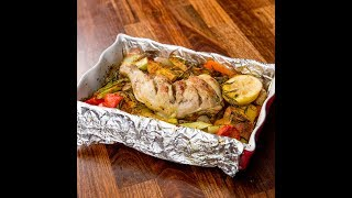 Probably the best way to take advantage of the savory chicken thighs: roasted them in the oven next to some vegetables, ...