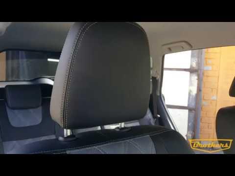 """Чехлы на Toyota RAV-4, серии """"Premium"""" с ромбами - серая строчка"""
