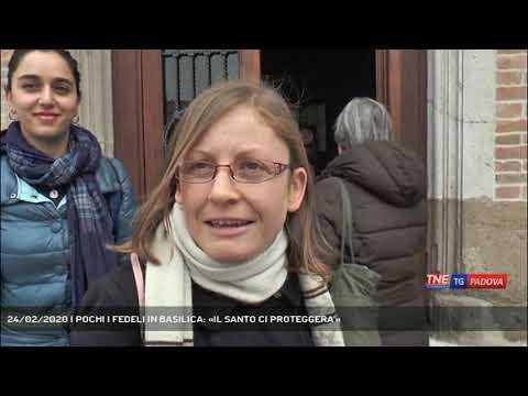 24/02/2020 | POCHI I FEDELI IN BASILICA: «IL SANTO CI PROTEGGERA'»