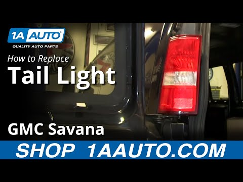 How To Install Change Taillight and Bulbs 1997-2013 GMC Savana Chevy Express.