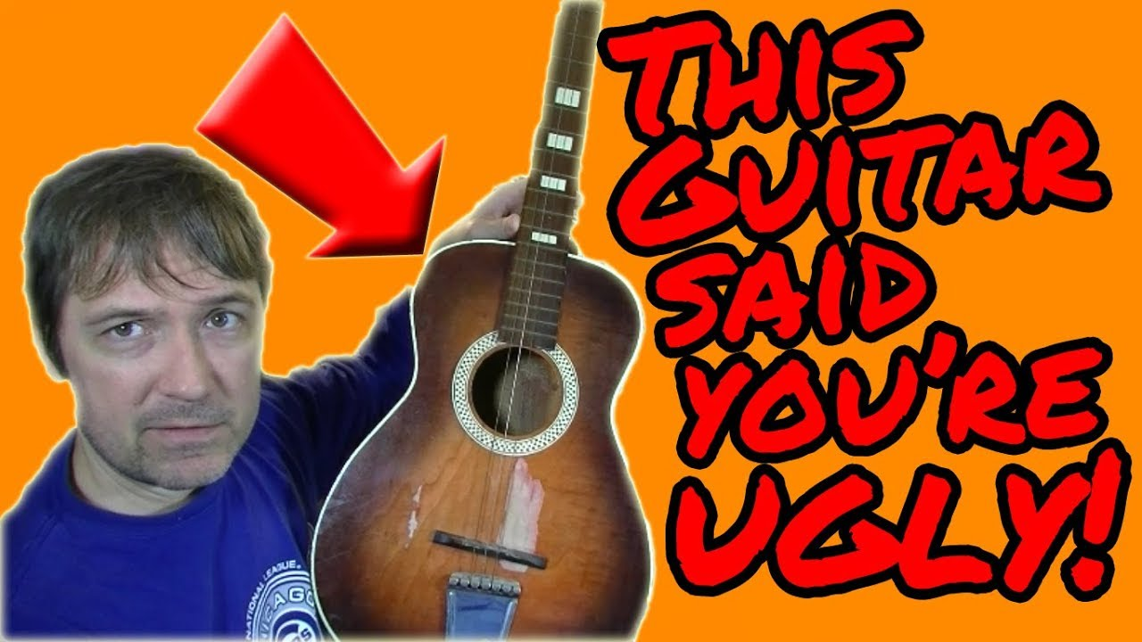 $50 Vintage Acoustic Guitar…Let's Polish this TURD and Hear It Speak
