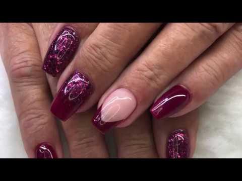 Burgundy Mulberry Acrylic Nails