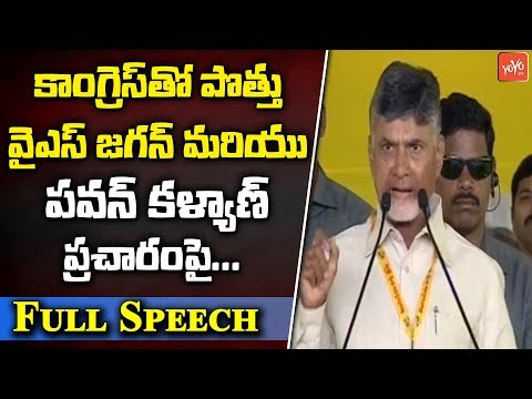 Chandrababu Naidu Full Speech | TDP Dharma Poratam Live From Nellore | AP News | YOYO TV Channel