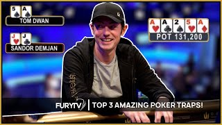 Video TOP 3 MOST AMAZING POKER TRAPS EVER! MP3, 3GP, MP4, WEBM, AVI, FLV Maret 2019