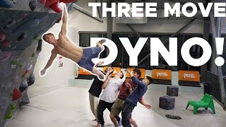 THREE MOVE DYNO! || SCHOOLED BY MAGNUS MIDTBØ by Bouldering Bobat