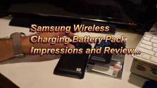 Samsung has released some great new accessories for the Galaxy Note 7 and the wireless charging battery pack being one that I have really liked using on my personal own Galaxy Note 7.If you are looking for a way to keep your Galaxy Note 7 charged up on a trip that you will not be able to plug in your Galaxy Note 7. I highly recommend that you look into purchasing or at least take a good look at the Samsung Galaxy Note 7 wireless charging battery pack. Not only does this charge the Note 7, it does it with out having to plug in any cables from the battery pack! This is awesome! It charges with its Qi technology. Also the wireless battery pack is waterproof just like you Galaxy Note 7 for those times you might be in a ride that is going to soak up with water! Though do keep in mind that the wireless battery pack will most likely be able to charge you Galaxy Note 7 from about 15% to full charge just once. For me, this will not be an issue. I can get about 29 hours. If I was going to use it very heavy and get around 18 hours plus another 18 with the wireless charging battery pack, that would get me through a complete day and night!