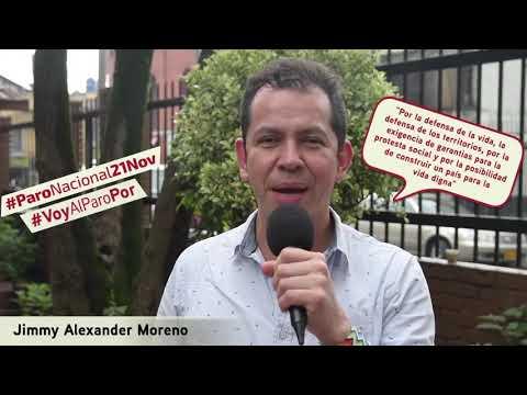 Jimmy Moreno va al #ParoNacional21N