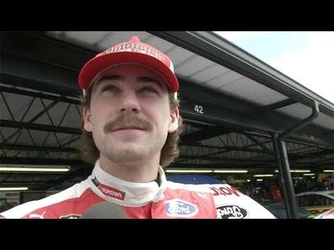 Ryan Blaney sports interesting mustache at Darlington