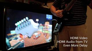 A quick comparison of the audio delay in the game Rocksmith using 4 different audio playback connections. I use the composite cable's stereo RCA outputs ...