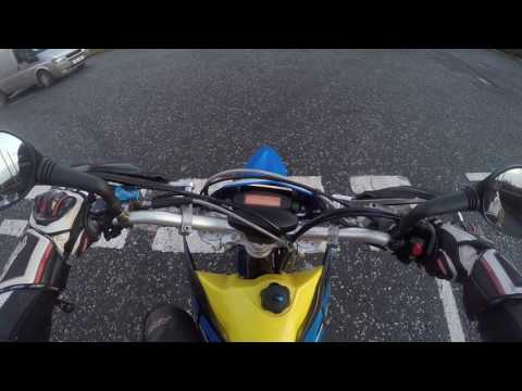 2007 Husaberg Fe550e Short blast out on greasy winter roads in Northern Ireland