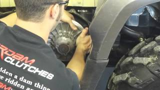 7. Can-am BRP secondary / driven clutch torsional spring install
