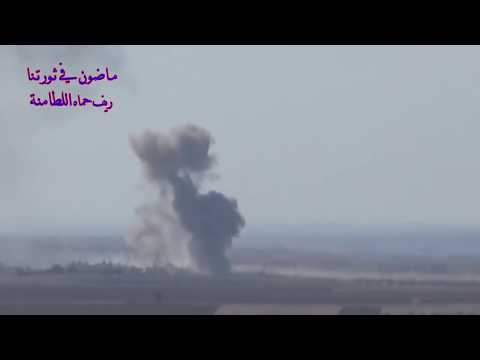 RUSSIAN WARPLANES BOMB MILITANT POSITIONS IN HAMA SYRIA (видео)