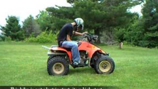10. Starting a manual ATV by rolling it down a hill