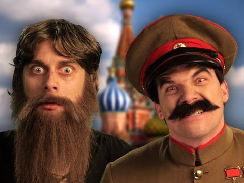 Rasputin vs Stalin.  Epic Rap Battles of History Season 2 finale. (видео)