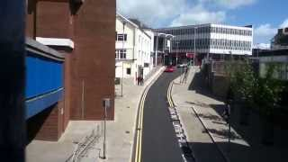 Bridgend Town (view from Multi-story car park) May 2015