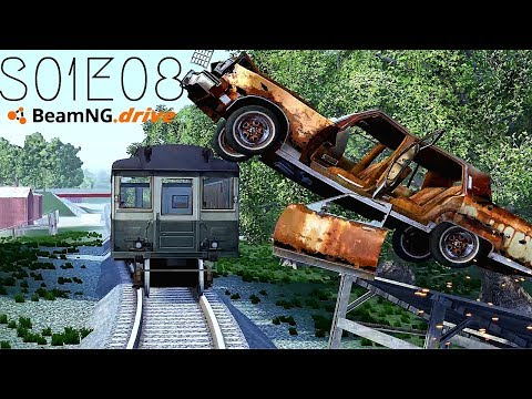 Beamng Drive Movie: Epic Chase Leads To Multiple Crashes (+Sound Effects) |PART 8| - S01E08
