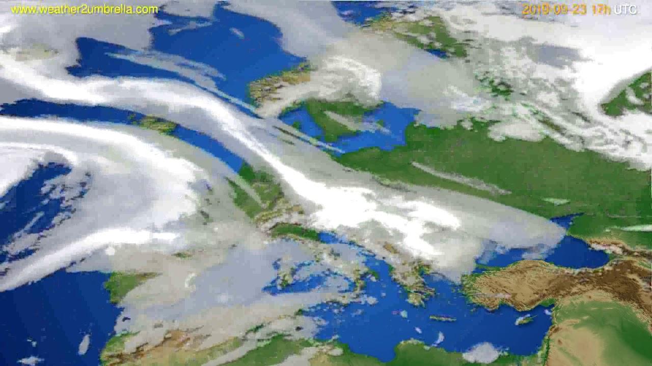 Cloud forecast Europe // modelrun: 00h UTC 2019-09-22