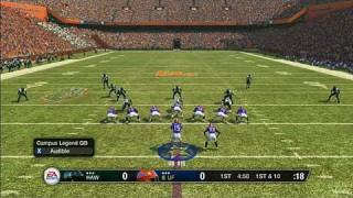 NCAA Football 09 Sports Gameplay - QB Touchdown
