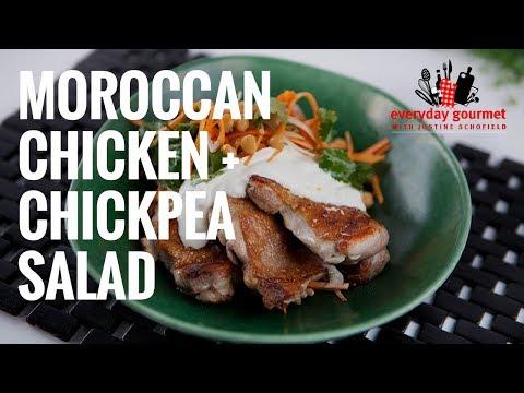 Moroccan Chicken & Chickpea Salad   Everyday Gourmet S7 E88