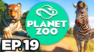 Planet Zoo Ep.19 - • MAKING A CHEETAH HABITAT, NEW EXHIBIT CREATURES!!! (Gameplay / Let's Play)
