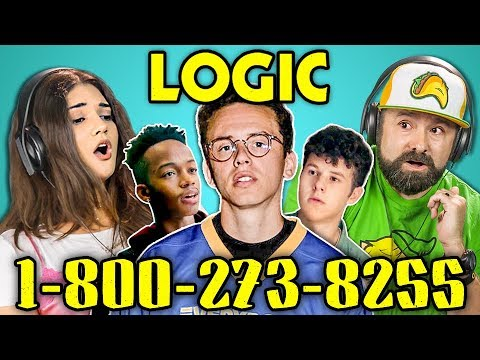 ADULTS REACT TO LOGIC - 1-800-273-8255 (видео)