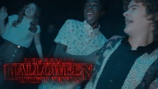 Stranger Things Cast Checks Out Their Maze Halloween Horror Nights **VIDEO MAY TRIGGER SEIZURES**