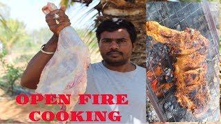 FULL GOAT LEG ROAST IN OPEN FIRE  TANDOORI STYLE