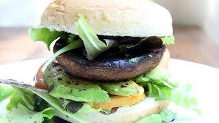 Basil Garlic Mushroom Burger