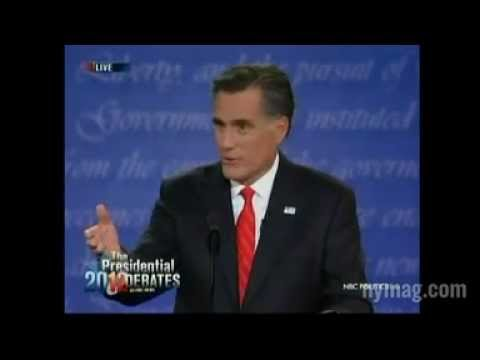 2012 Presidential Debate? What was the crashing sound? :)