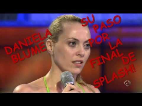 Daniela Blume, Su Paso Por La Final De Splash! (видео)