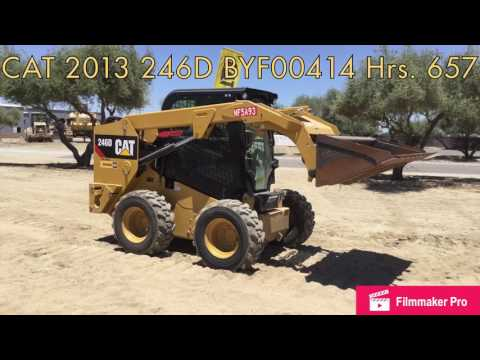 CATERPILLAR SKID STEER LOADERS 246D CAB equipment video ZTawsU92v8g