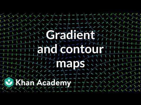 Gradient And Contour Maps Video Khan Academy