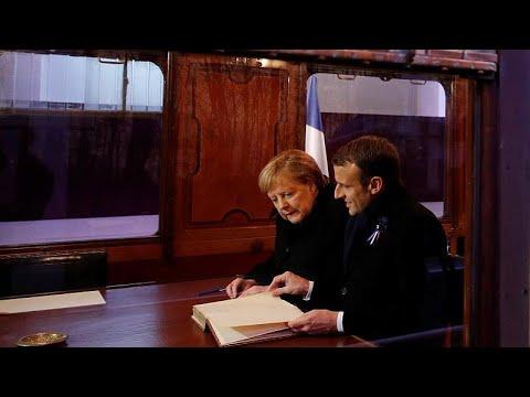 Merkel und Macron erinnern an das Ende des Ersten Wel ...
