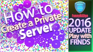 """How to make a Private server and Play with your Friends in Agar.io 2016Ogar server with all commands  Smash th@t Like button(Goal to 150likes)Don't Click This ; ) - https://goo.gl/B5ioo5★ How to reduce Lag in Agar.io part 1 - https://youtu.be/I-1onGEfwRk ★★ How to Reduce lag in agario PART 2 - https://youtu.be/-zfouyU2lbU ★Tips to reduce LAGG in slither.io - https://youtu.be/339a1FyoiXo ESET Smart Security 9(300Days License) - https://youtu.be/5qpISV3LHCEServer link when playing with Bots only ➤ http://agar.io/?ip=127.0.0.1:PORTAll Commands ➤  http://pasted.co/4cab4276Other Commands in the Comments㋡ Download Links ➤1. Ogar server Fileshttp://sh.st/RZjCN2. Hamachihttp://sh.st/RZj1m3. Node.jshttps://nodejs.org/en/★Inshort points★1.install hamachi2.create an account must for creator and his friend.3.Click on create an network and create one & gave the ID and PASS to ur friend tell the friend to join the network.4.Create a server by opening the OGAR5.Copy the IPV4 address from Hamachi and Listening port from Ogar cmd program6. agar.io/?ip=Creators ipv4 address:Port - Give this Link to ur Friend.then Play and Enjoy''''Very IMP Note''''1. If you are able to play on ur created server and ur friend is unable to joinThen skype might be the problem...""""""""""""Solution""""""""""""- if you are using SKYPE,then close it from Task manager or Port forward your Port2. If Ogar window (black command prompt) is not opening, do this steps Change the port on gameserver.ini to 4545 from 443. If It works, try to login to your server with this link agar.io/?ip=127.0.0.1:4545♫Music♫TheFatRat - Monody (feat. Laura Brehm)❤If this video helps u, then pls LIKE this video❤❤Please Guys SUBSCRIBE to my Channel❤"""