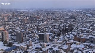 Maebashi Japan  city pictures gallery : Snow scenes - under heavy snow.View of Maebashi City area (Gunma, JAPAN) 大雪・前橋市街地を展望