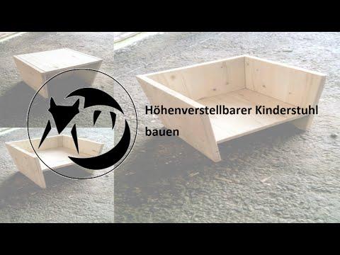 Höhenverstellbarer Kinderstuhl bauen