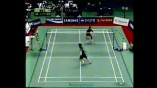 2002 Asiad Badminton Team Final -Shon Seung Mo Vs Taufik Hidayat