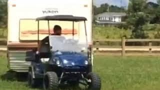 10. Yamaha Adventurer pulling camper