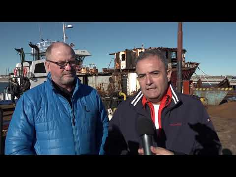 Pesatti-Tozzi: Hundimiento ex pesquero Chiarpesca 59 en Las Grutas