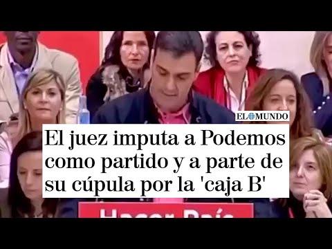 Imputan a Podemos como partido y a parte de su cúp...