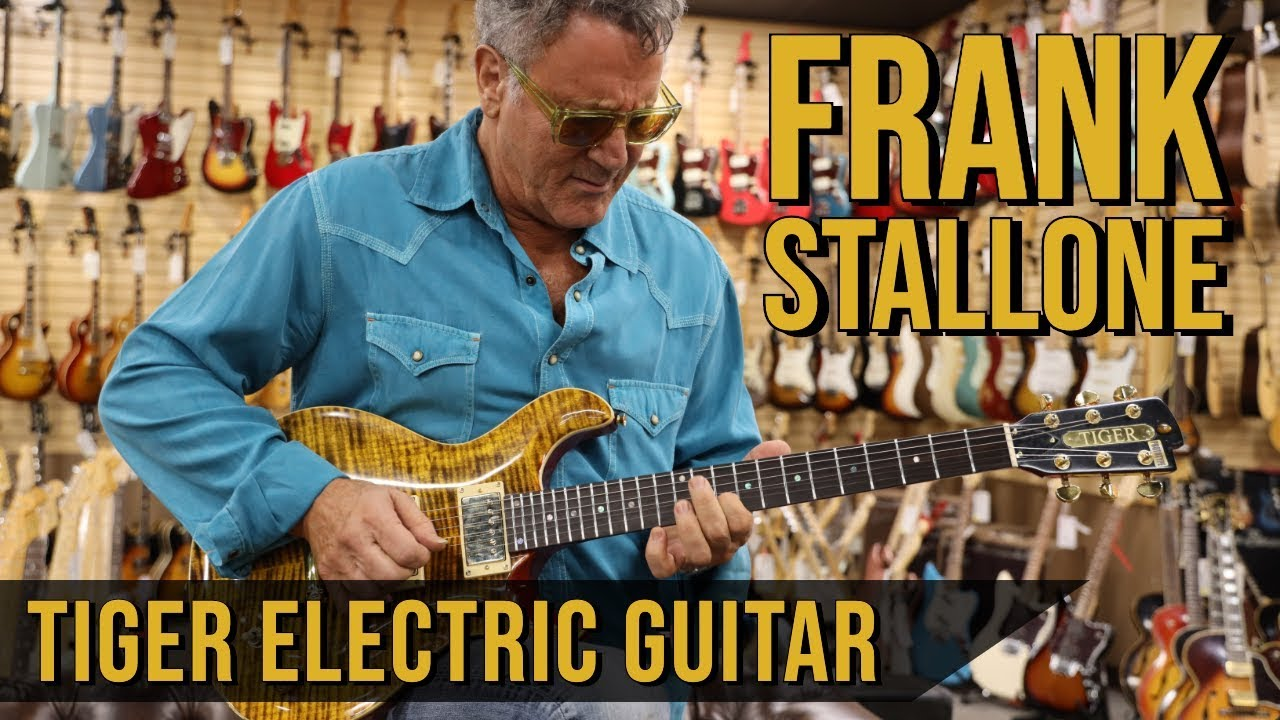 """Frank Stallone and his """"Tiger Electric Guitar"""" now available online! 