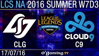 CLG vs Cloud9 - LCS NA Summer Split 2016 - W7D3
