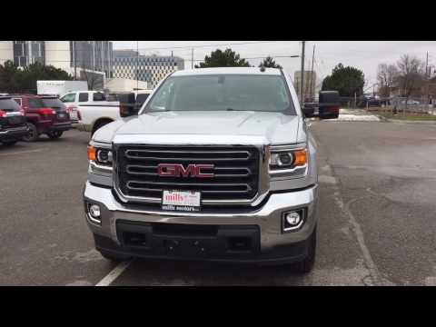 new 2017 gmc sierra 2500hd 4wd double cab 144 2 sle 4 door pickup in oshawa 170635 mills. Black Bedroom Furniture Sets. Home Design Ideas