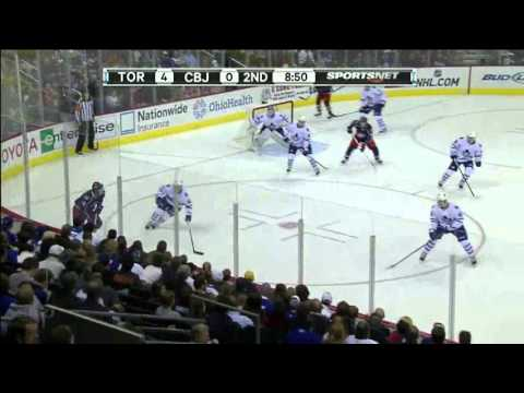 Maple Leafs Rookie Goalie Ben Scrivens 1st NHL Game & 1st Career NHL Win