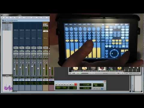 Control Pro Tools with a Kindle Fire Tablet - TouchDAW Review/Demo