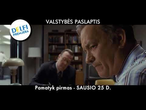 DELFI premjera - pamatyk VALSTYBĖS PASLAPTIS (THE POST) filmą pirmas - SAUSIO 25 D.